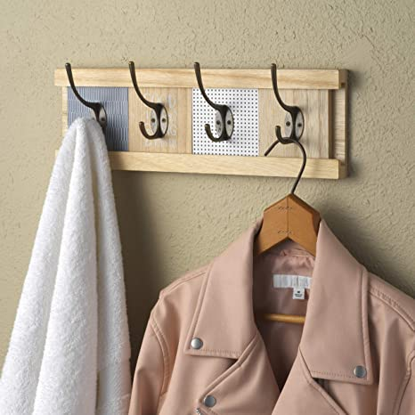 Amazon.com: 10 Street Home - Perchero de pared de madera ...