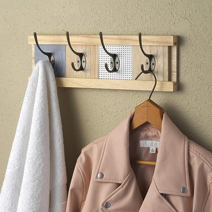 Amazon.com: 10 Street Home - Perchero de pared de madera ...