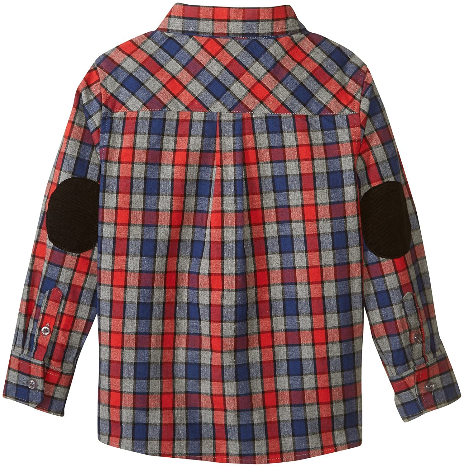 Andy /& Evan Boys Multi Check Flannel Shirt-Toddler