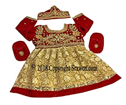16203e817 Image Unavailable. Image not available for. Color: Srawen Nepali Weaning  Ceremony/Pasni Dress for Baby Girl/Rice Feeding ...
