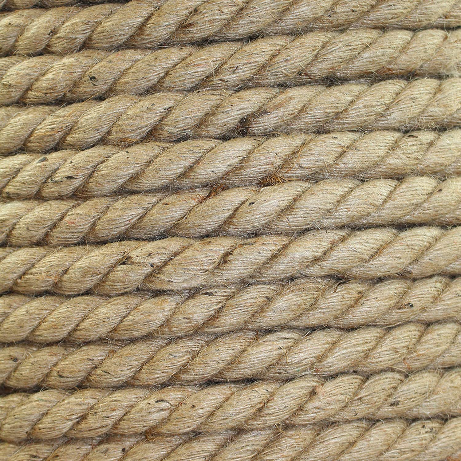 Home Decor /& More Garden 1//4 x 100ft Packing SGT KNOTS Twisted Jute Rope Natural Fiber for Crafts
