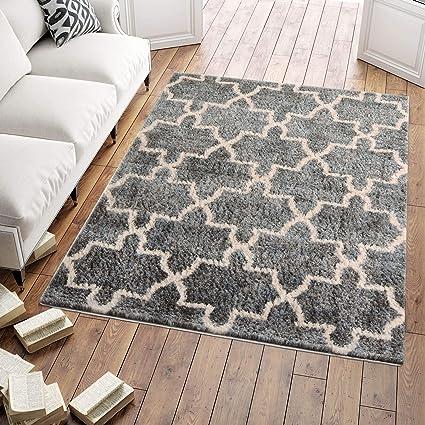 Amazon De Carpeto Shaggy Hochflor Teppich Bettvorleger Fur Wohnzimmer Schlafzimmer Esszimmer