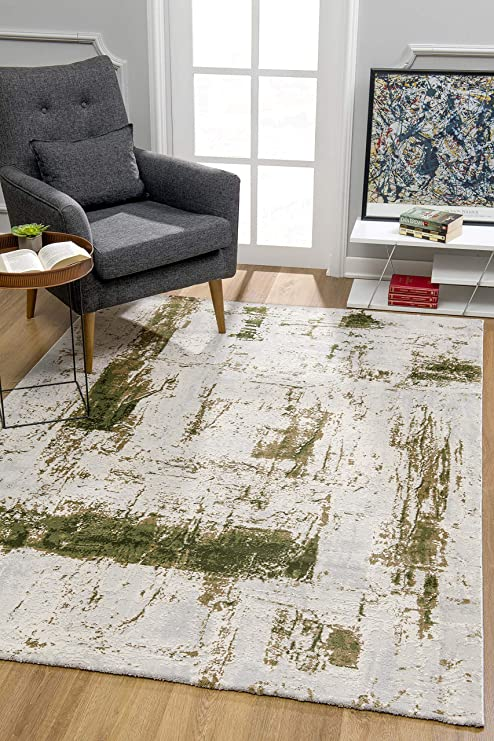 Rug Branch Vogue Modern Soft Area Rug For Living Room And Bedroom 4x6 Feet Contemporary Abstract Area Rugs 3 9 X 5 6 Green Amazon Ca Home Kitchen
