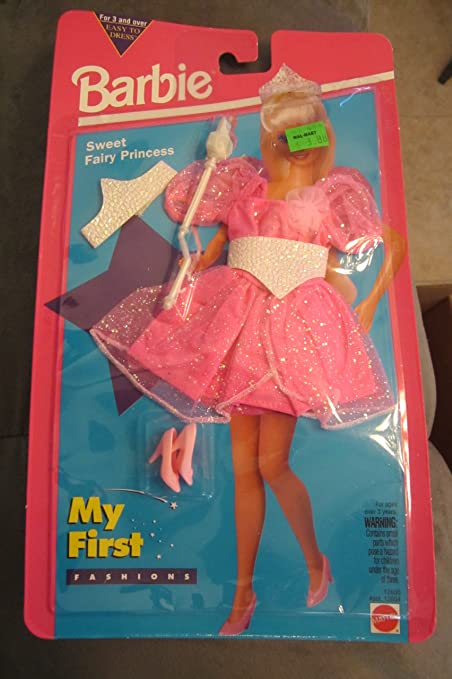 Amazon Com Barbie Sweet Fairy Princess Fashions 1994 My First Fashions Toys Games