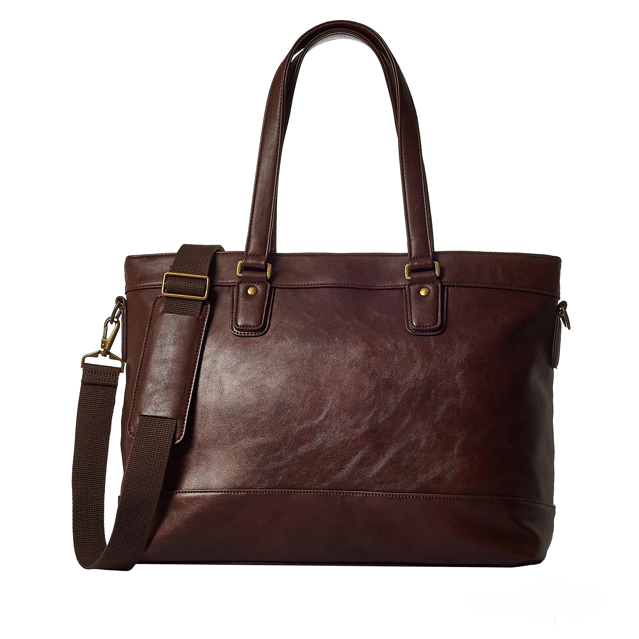GLEVIO Grevio Business Tote Bag Business Bag 2way Large Capacity Men's Women's B4 (Dark Brown)