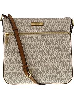 598fa2961cf1e Michael Kors Brown PVC Jet Set Travel Large Chain Shoulder Tote Bag ...