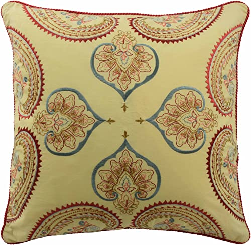 Waverly Swept Away Decorative Pillow, 18×18, Berry