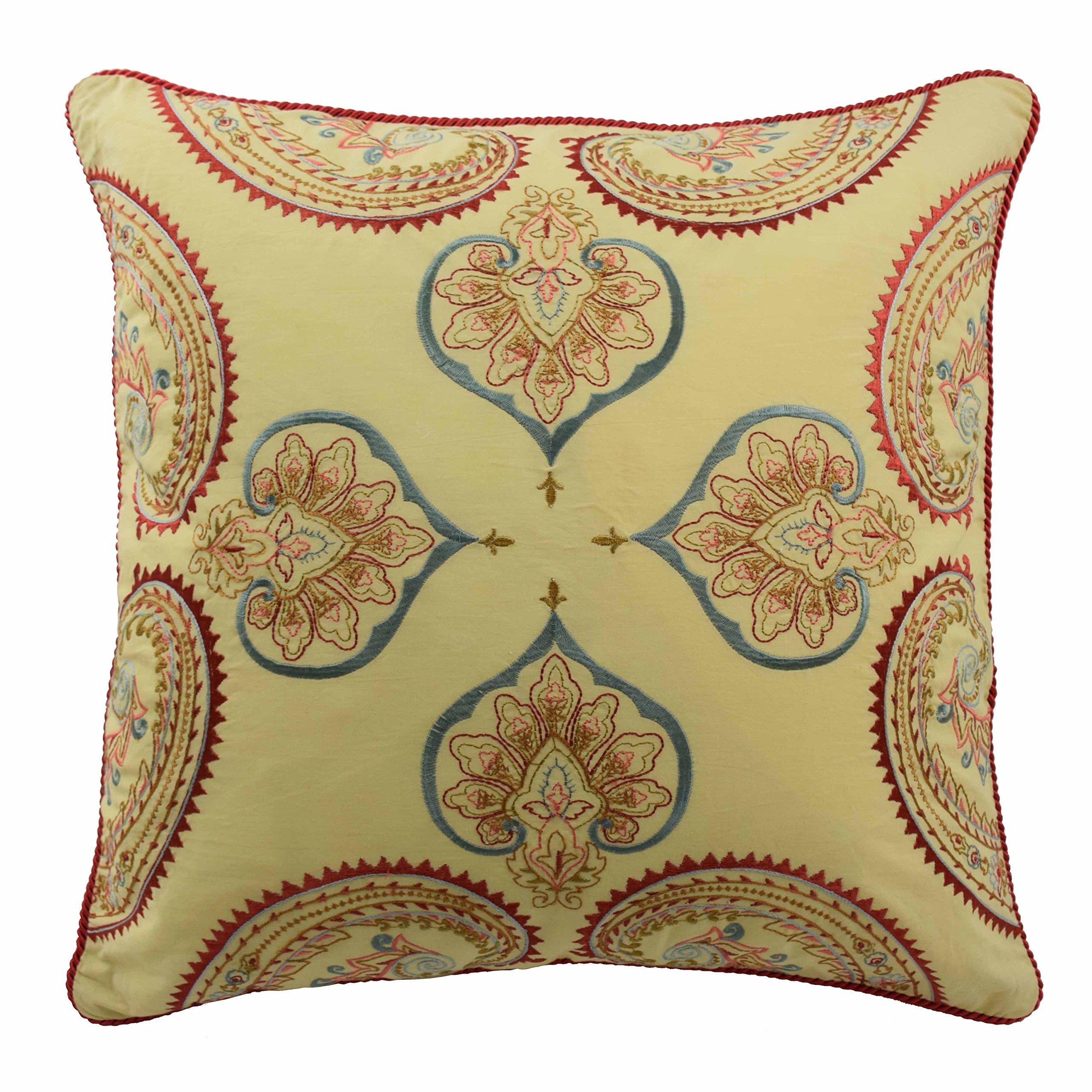 WAVERLY Swept Away Decorative Pillow, 18x18, Berry