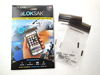 "product image for LokSak aLokSak 3x6"" Waterproof Resealable Storage Bag, Pack of 2, Clear"