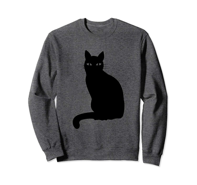 Black Cat Halloween Sweatshirt for Girls, Women, Men, Boys-mt