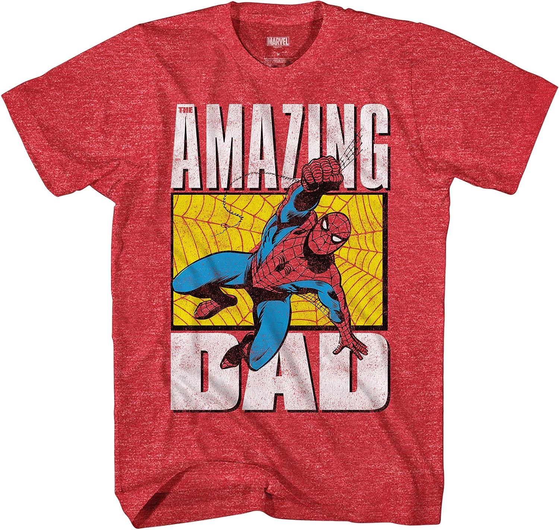 Marvel Spiderman Spider-Man Amazing Dad Adult T-Shirt