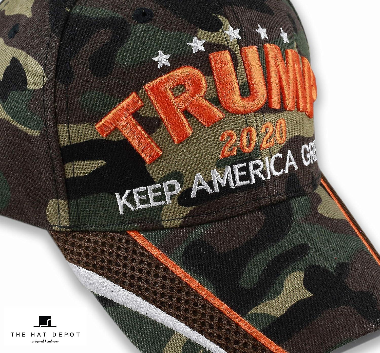 The Hat Depot Original Exclusive Donald Trump 2020 Keep America Great//Make America Great Again 3D Signature Cap