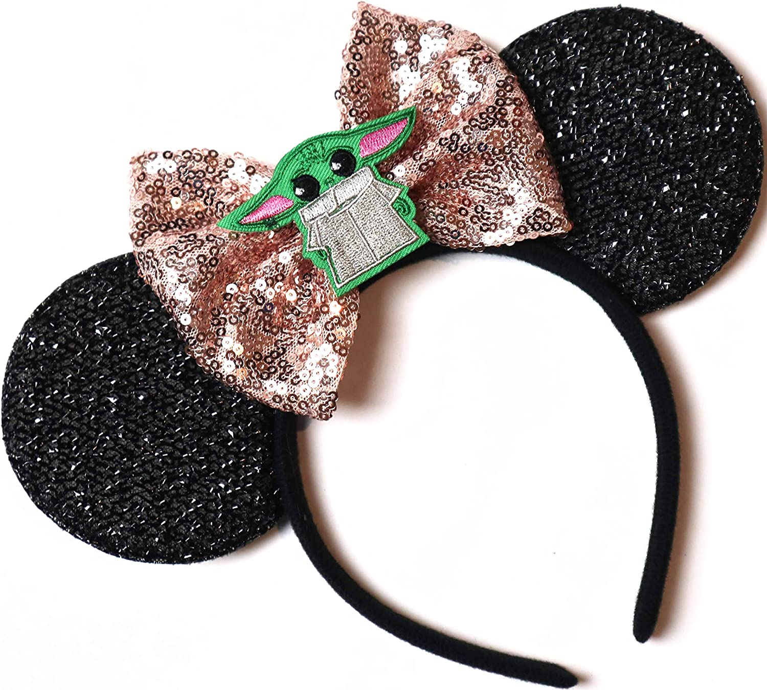 CLGIFT Star Wars Ears, Black Mouse Ears, Darth Vader, Mickey...
