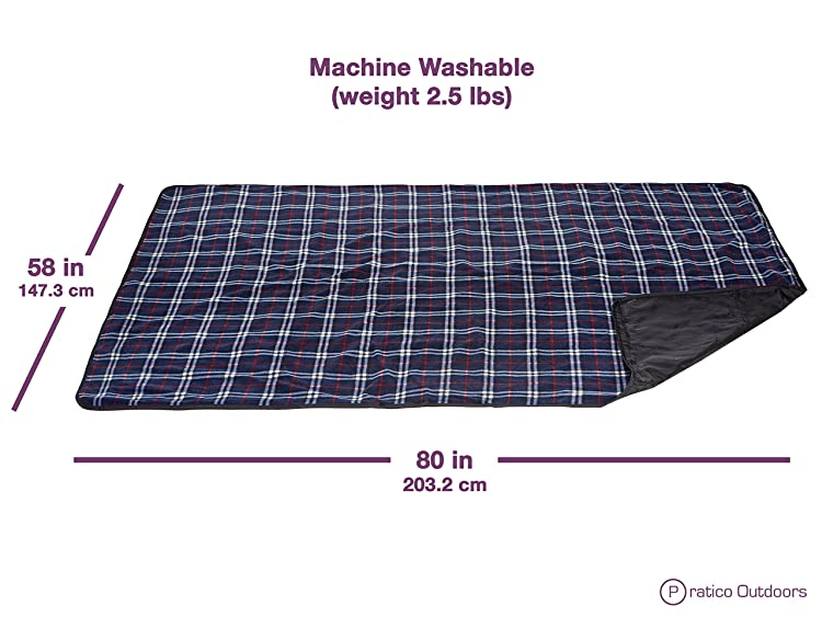 Premium Extra Large Picnic Blanket Machine Washable, Improved Backing & Carrying