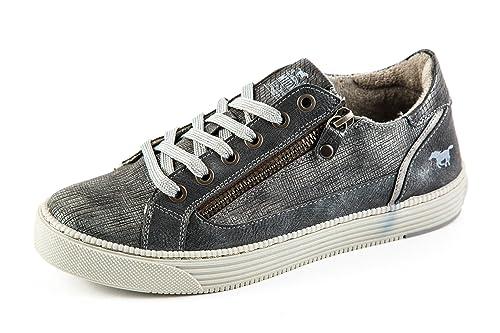 Mustang Original Sample Zapatillas de Material Sintético Para Mujer Gris Gris 37, Color Gris, Talla 37: Amazon.es: Zapatos y complementos
