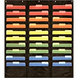 30 pocket storage pocket chart hanging wall file organizer by essex wares organize your