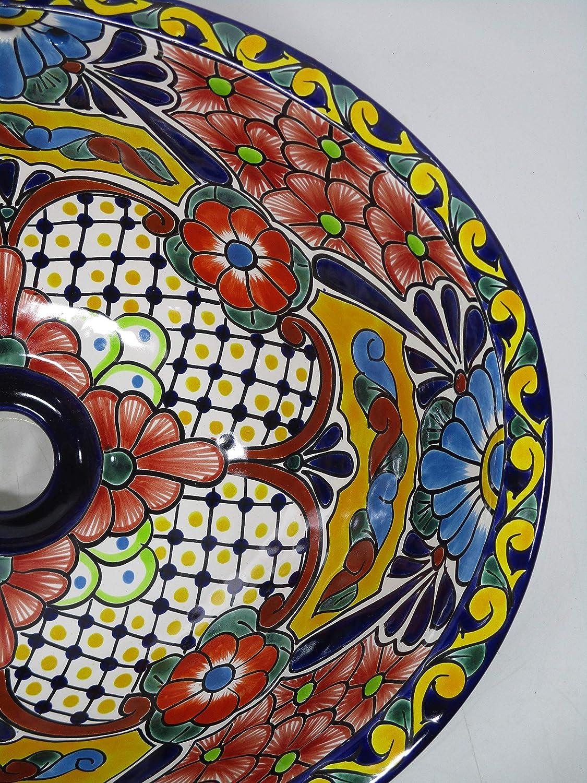 17 X 14 TALAVERA SINK drop in or undermount mexican bathroom handmade ceramic