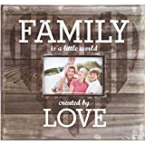 "MCS MBI 12.5x13.5 Inch ""Family is a Little World Created by Love"" Scrapbook Album with 12x12 Inch Pages with Photo Opening, Brown (860080)"