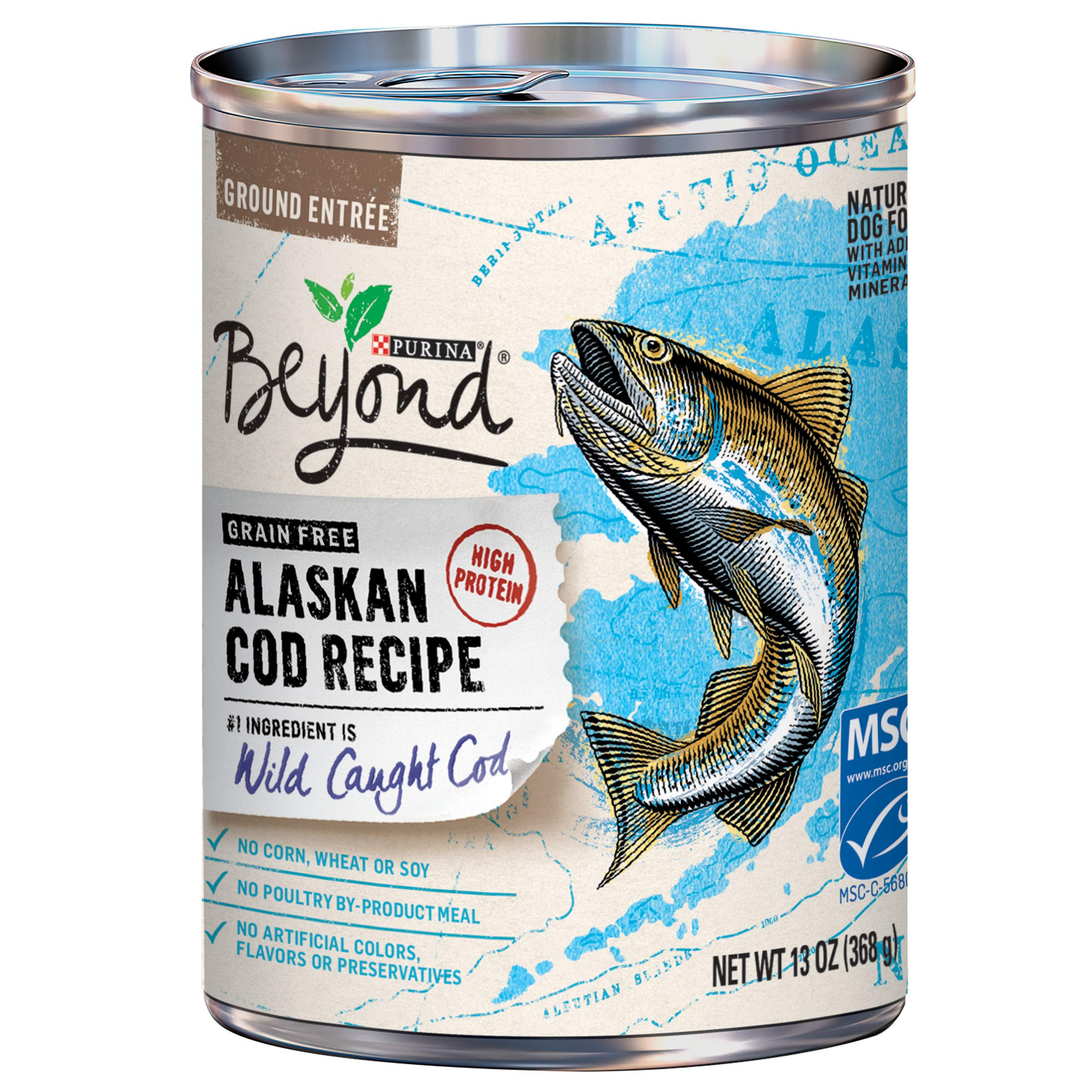 Purina Beyond Grain Free, Natural, High Protein Wet Dog Food, Alaskan Cod Recipe - (12) 13 oz. Cans by Purina Beyond