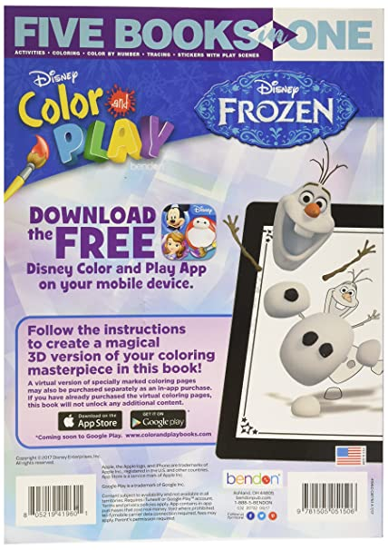 Amazon Bendon Disney Frozen Color And Play 32 Page Activity Book Toys Games