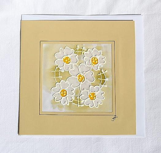 Amazon Sale20 Offoriginal White Daisy Carddaisy Birthday