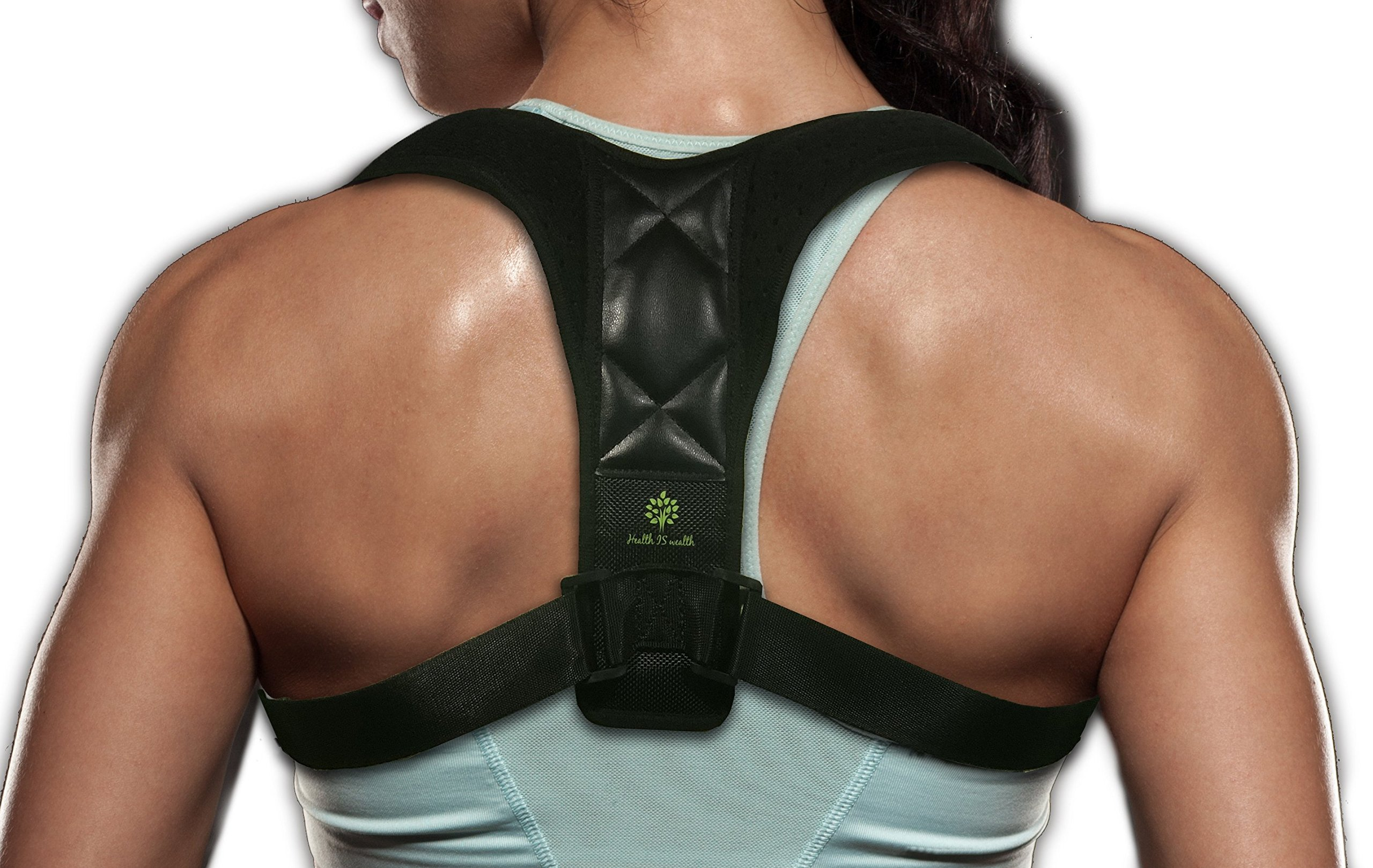 Back Posture Corrector for Men and Women- Better Posture- Upper & Lower Back Support Pain Relief-ONE Size FITS All- by Health is Weal