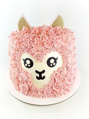 Amazon.com: Hecho a mano llama tarta de cumpleaños ...
