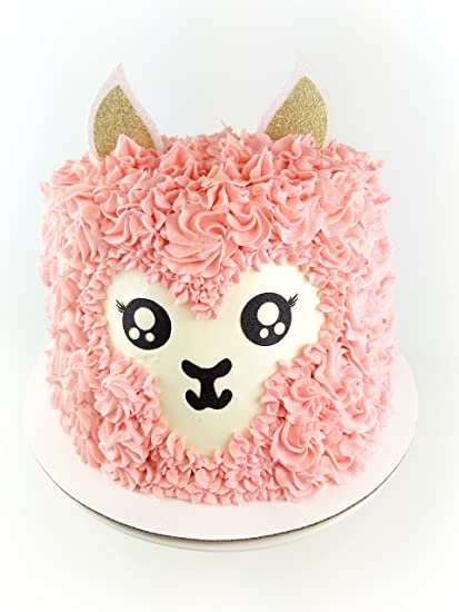 Amazon Handmade Llama Birthday Cake Topper Decoration