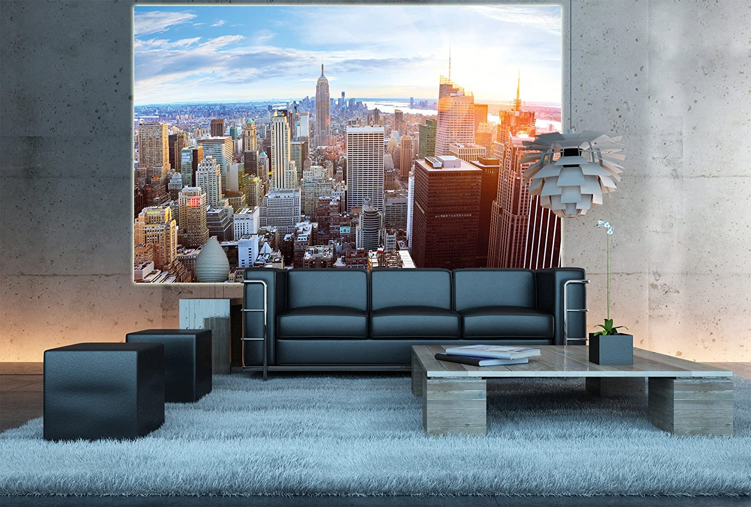 Amazon xxl poster new york city skyline wall picture amazon xxl poster new york city skyline wall picture decoration sundown penthouse view manhattan america usa dcor big apple nyc wallposter amipublicfo Images