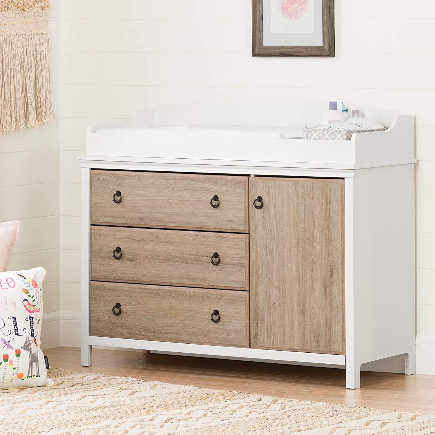 Shop South Shore Catimini Long Changing Table with Removable Changing Station with Drawers from Amazon on Openhaus