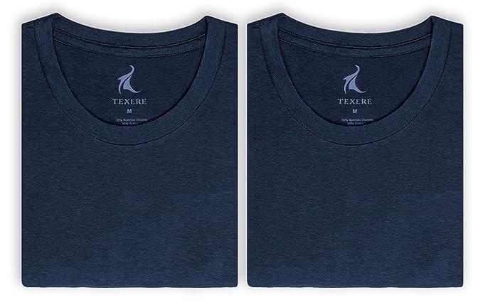 aca91e734 Texere Crew Neck Undershirt for Men - Luxury Shirt in Bamboo Viscose at Amazon  Men's Clothing store: