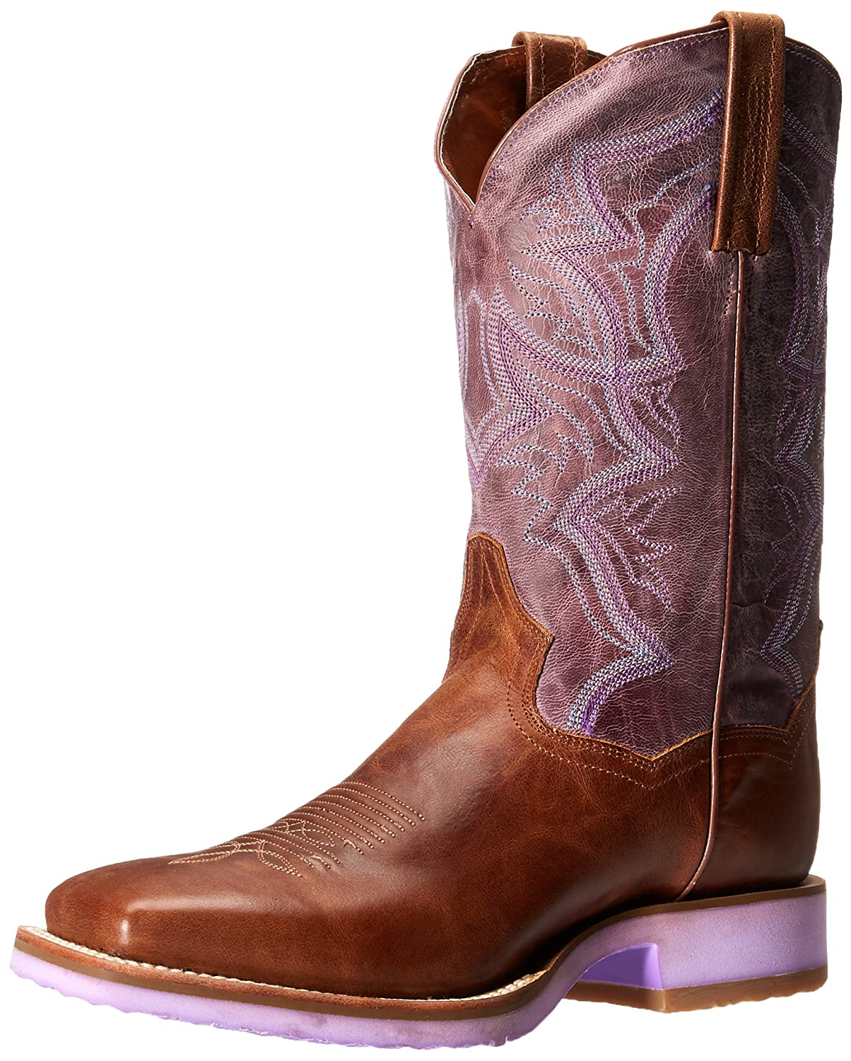 Dan Post Women's Serrano Western Boot B00QSQBODC 7 B(M) US|Tan/Purple