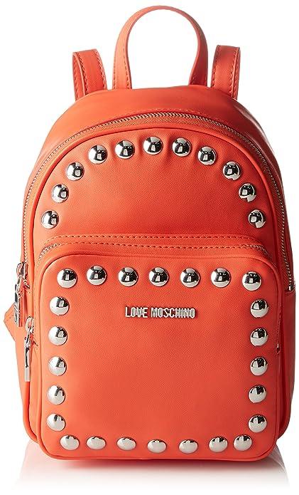 9x28x23 Moschino Moschino Orange Mujer Mochila Cm Bolsos Love xCYRqwBUw