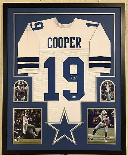promo code 1906e af2d8 Amari Cooper Autographed Custom Framed Dallas Cowboys Jersey ...