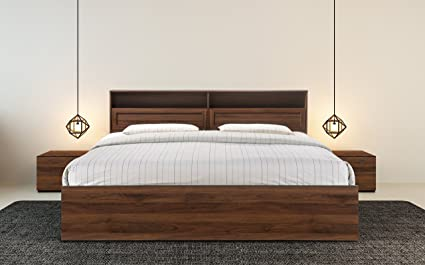Superieur HomeTown Alyysa Engineered Wood Box Storage King Size Bed In Wenge Color