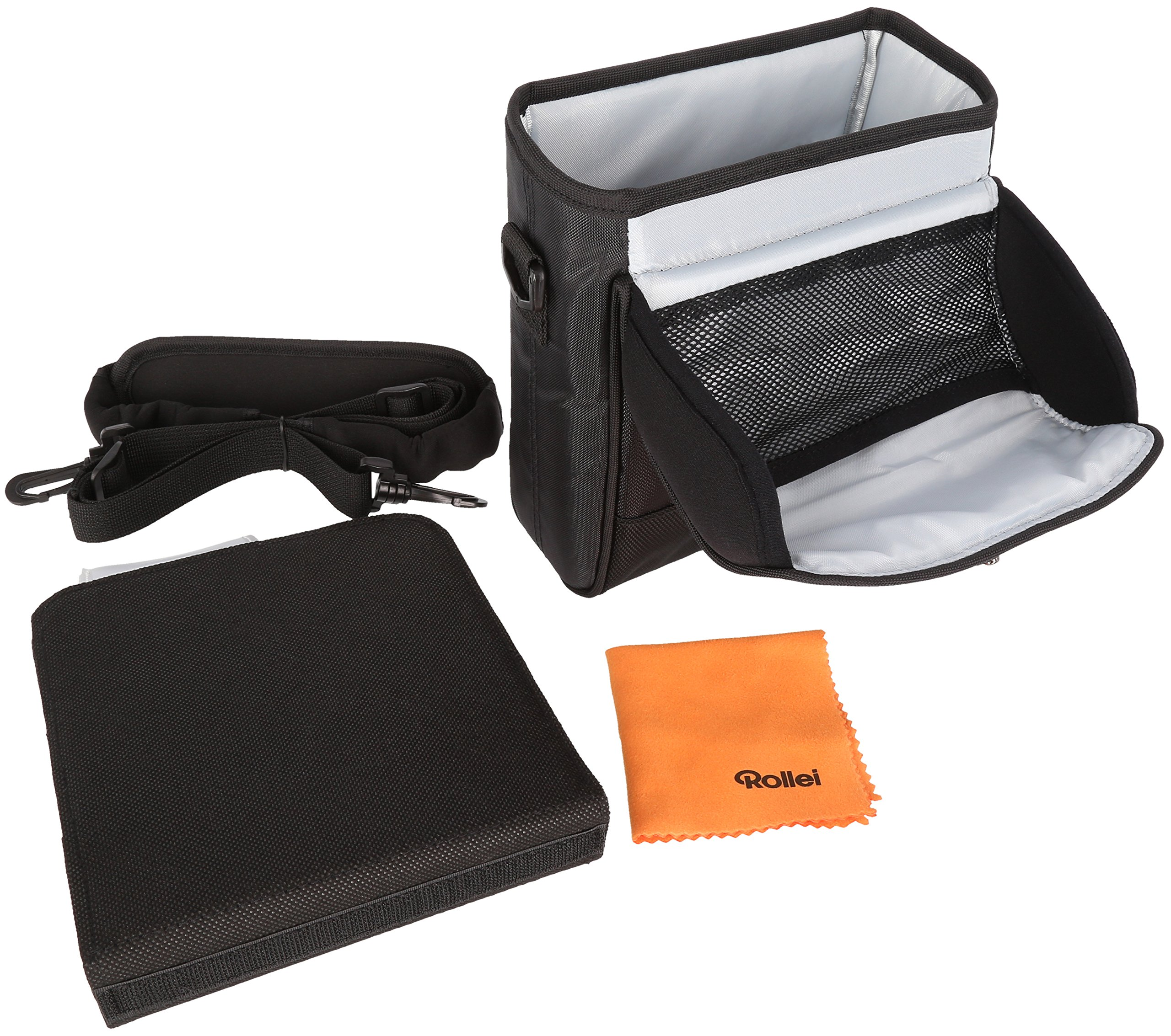 Rollei Square Filter Bag 150 mm - Padded Nylon Bag for Square Filters with a Width of 150 mm, incl. Shoulder Strap and Cleaning Cloth - Black by Rollei (Image #2)