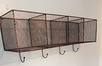 R&G Vintage Industrial Estilo Cesta de estantería de Pared ...