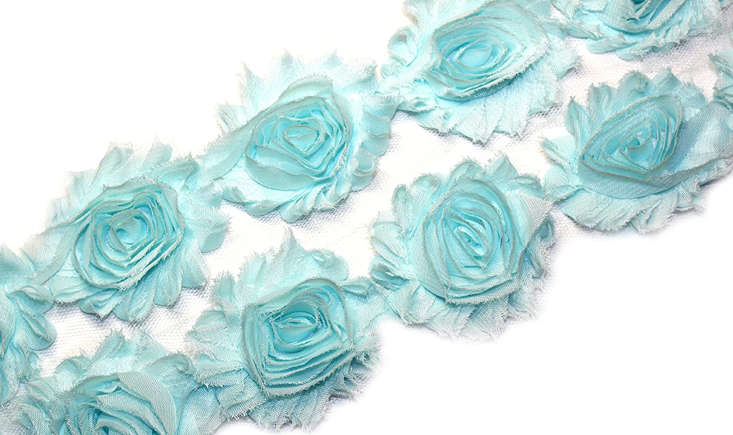 Amazon 28 piecess aqua shabby chiffon fabric flowers 25 amazon 28 piecess aqua shabby chiffon fabric flowers 25 shabby rose trim 2 yards izmirmasajfo