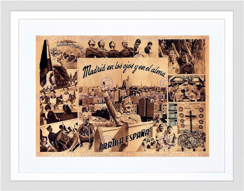 Amazon.com: WAR Spanish Civil Fascist Franco Nationalist Spain Framed Art Print B12X2044: Posters & Prints