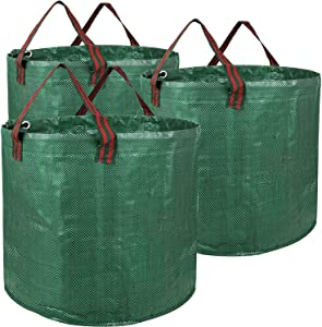 YIERMA 3-Pack 32 72 80 132 Gallon Reusable Garden Waste Bags for Patio, Yard, Trash Can, Laundry Container (80 Gallon)