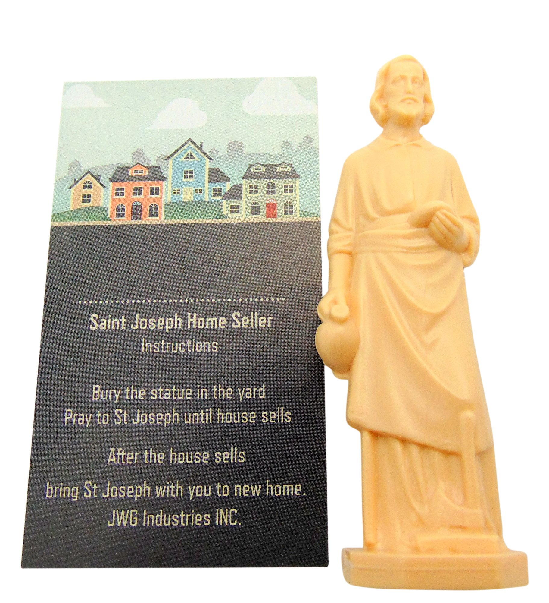 Saint Joseph Home Seller Kit 3 Inch Statue with Instruction Card
