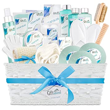 Ocean Bliss Extra Large Spa Bath Gift Basket Best Mother S Day Gift Includes 3 Bath Bombs Shower Gel