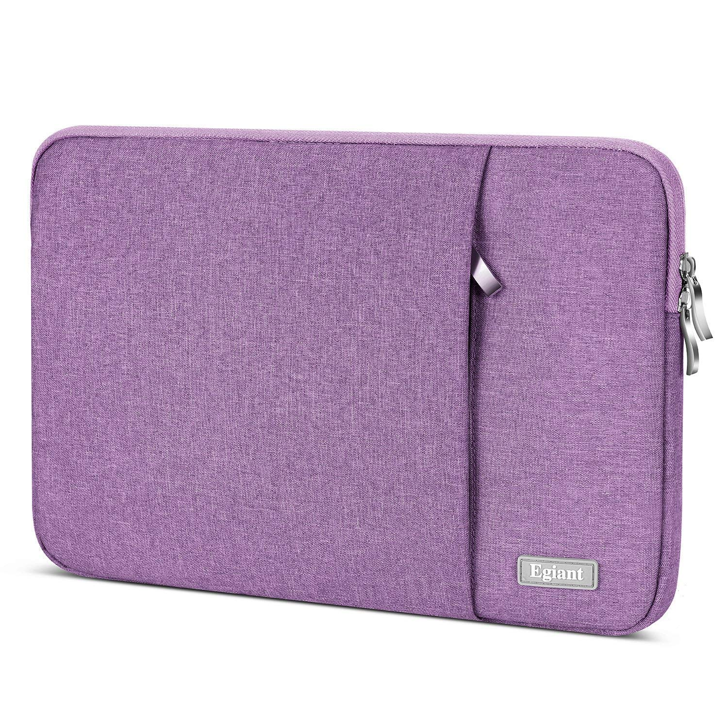 "Laptop Sleeve 15.6 inch,Egiant Water Repellent Protective Fabric Notebook Bag Case Compatible F555LA/MB168B/X551|Aspire E15|Chromebook 15|Inspiron 15.6|15.6"" Pavilion,Computer Carrying Case-Purple"