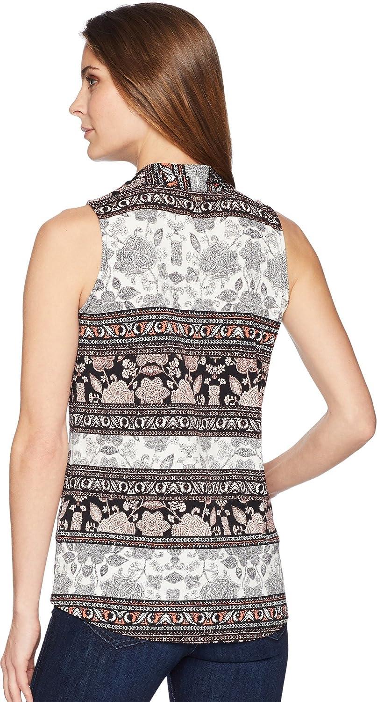 94e7cc6a8ec7cb Ivanka Trump Womens Sleeveless Printed Top with Open Hem at Amazon Women's  Clothing store: