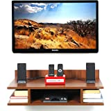 Bluewud Reynold TU-RE-STL Wall Unit (Walnut)