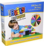 Premium Big Briks 24 Color Solid and Clear Basic Builder Set #2 - 108 Pack - Compatible with All Major Large Size Brands - Large Pegs Only