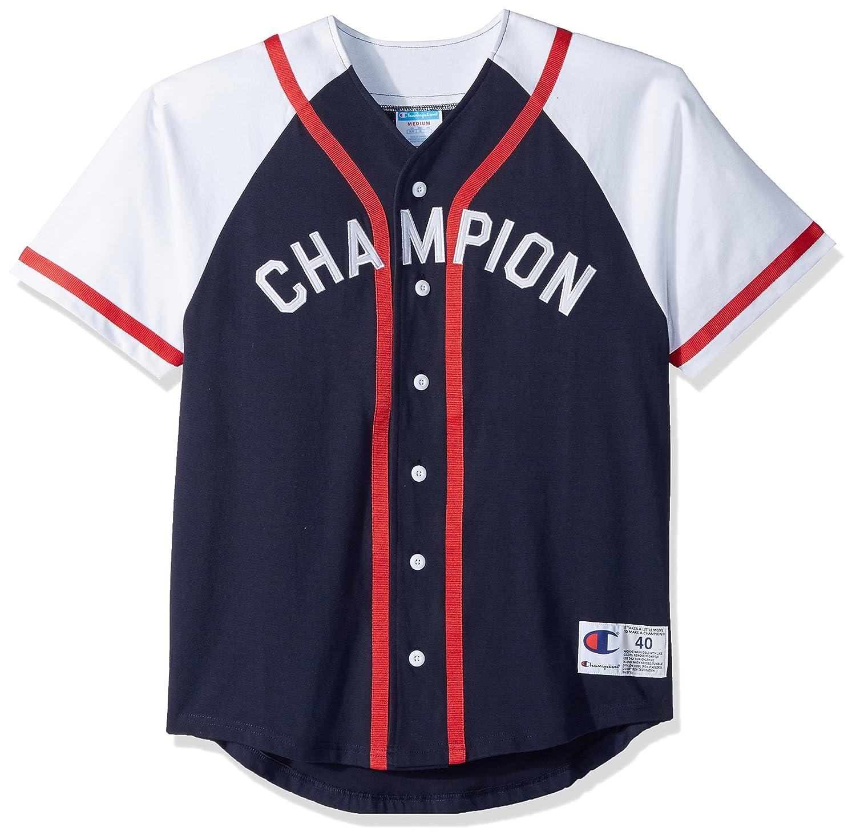 Amazon.com  Champion LIFE Men s Braided Baseball Jersey  Clothing 2c7478511