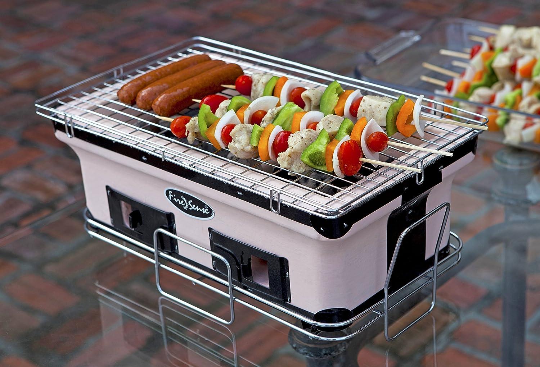 Amazon.com : Fire Sense Large Yakatori Charcoal Grill : Yakitori Grill :  Patio, Lawn U0026 Garden