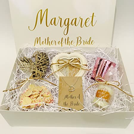 wedding gift hamper mother of the bride personalised thank you gift