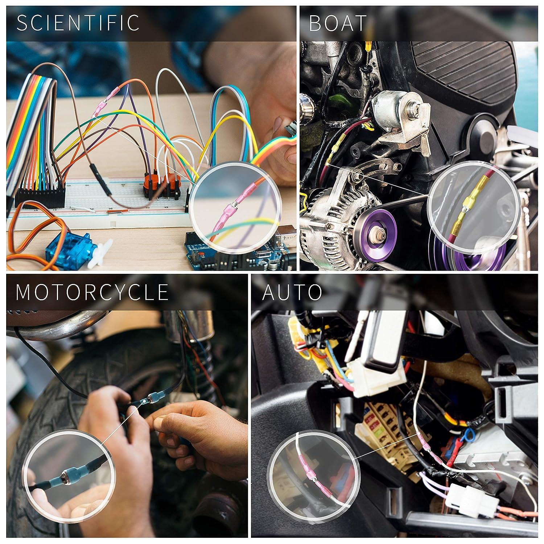 conectores de cable macho y hembra conectores de cable de desconexi/ón r/ápida terminales de pala el/éctrica Conectores de pala termorretr/áctil Wirefy de 250 piezas